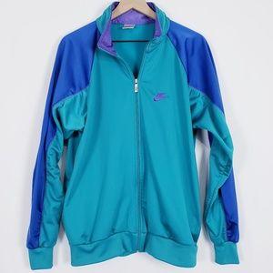 Nike Vintage teal zip up track jacket sz L